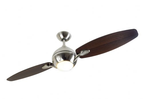 "Fantasia Propeller 54"" Brushed Nickel Ceiling Fan + Remote Control +  Light 114543"